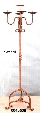 CANDELIERE 5 FIAMME ferro battuto