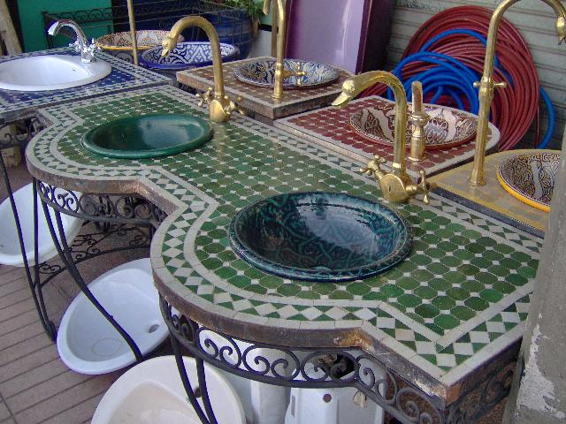 CONSOLLE 2 vasche p. mosaico