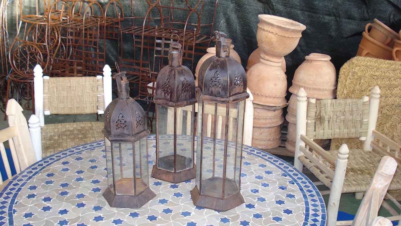 LANTERNA mod. Chiostro Esagonale cupola in ferro