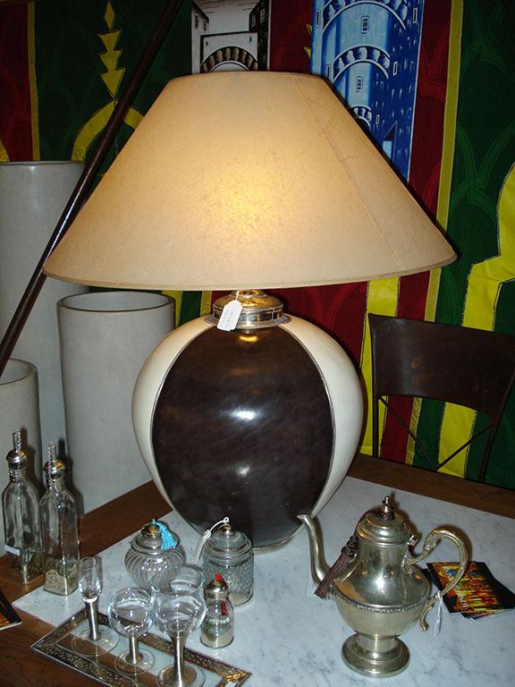 LAMPADA mod. Boul in Tadelakt e Argento  bicolore