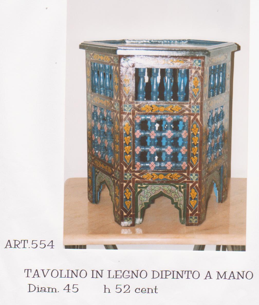 TAVOLO mod. Mucharabi in legno  esagonale