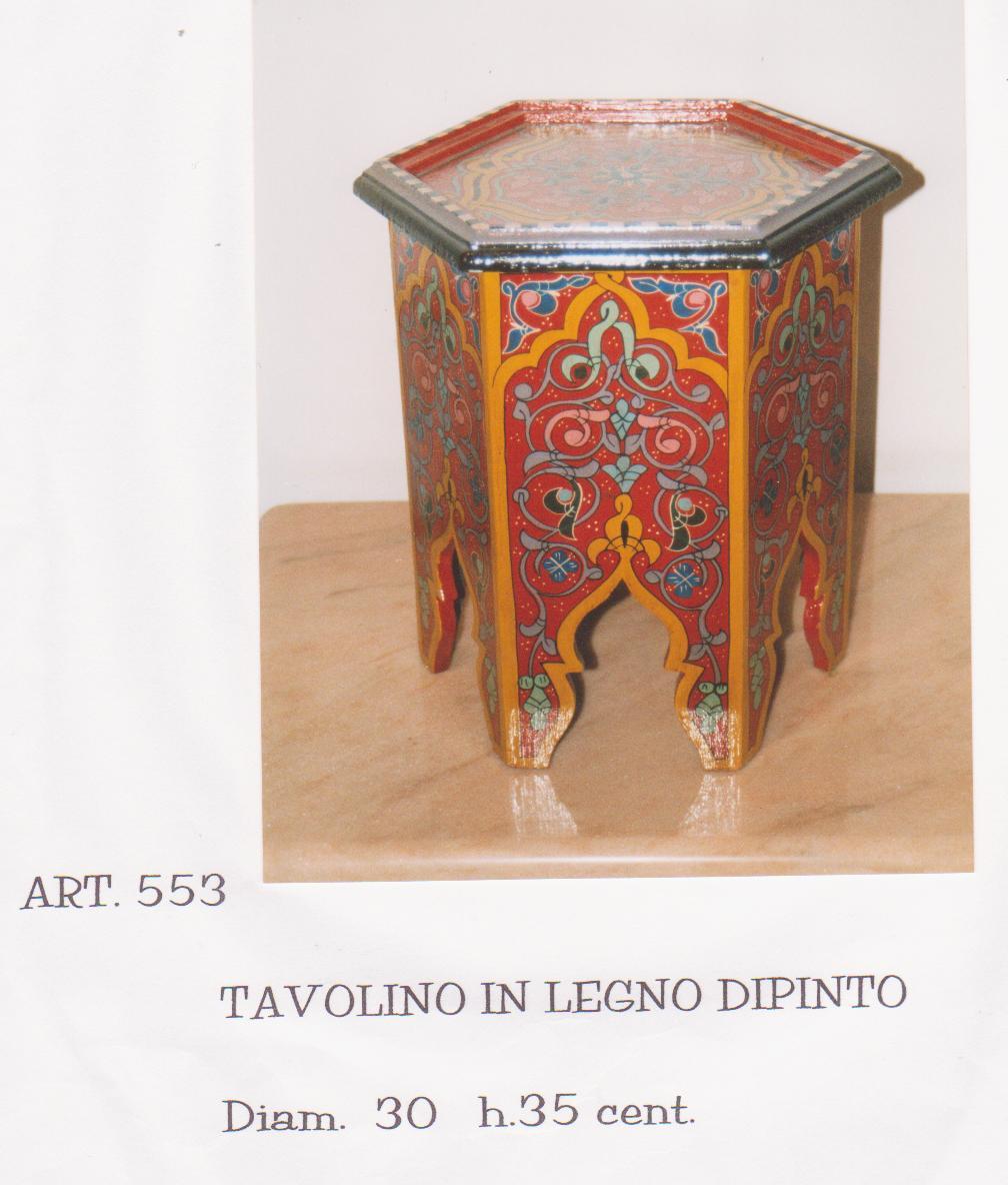 TAVOLO mod. Th� in legno  esagonale