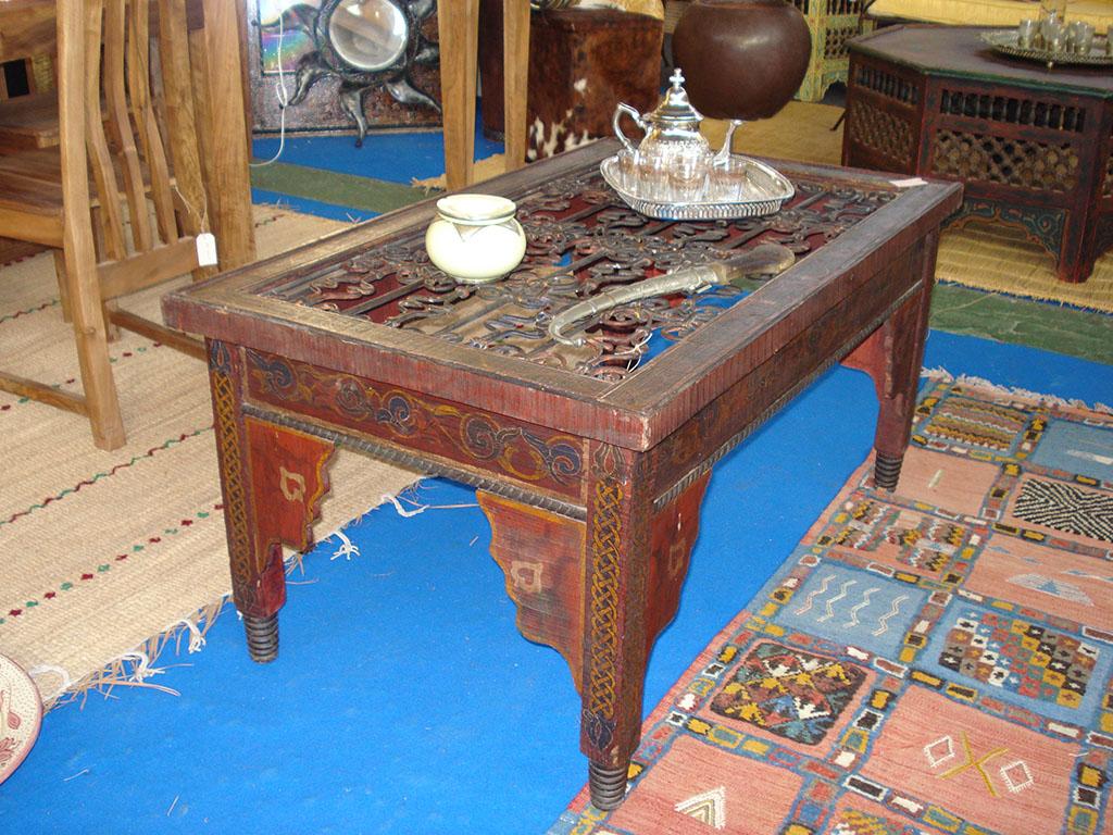 TAVOLO Vecchio in legno e ferro  rettangolare