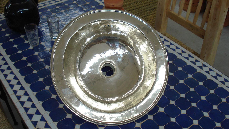 VASCA metal blanc  rotonda